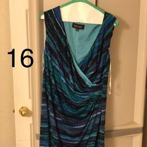 Black Label by Evan-Picone sleeveless dress